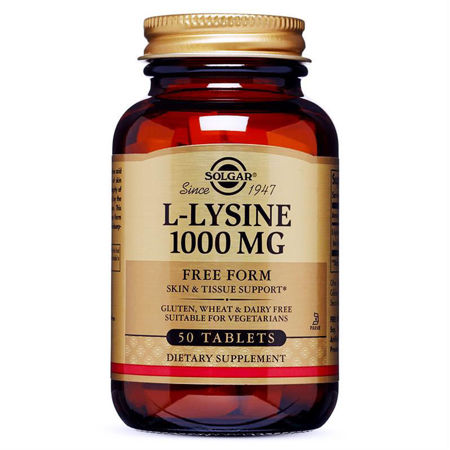 Picture of SOLGAR L-LYSINE TABLETE 50X1000 MG