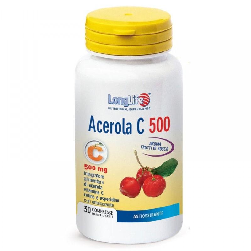 Picture of LongLife ACEROLA C-500 30 TABLETA ZA ŽVAKANJE