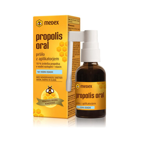 Picture of MEDEX PROPOLIS ORAL SPRAY NA VODENOJ OSNOVI 30 ML