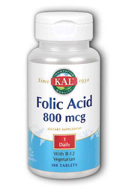 Picture of KAL FOLIC ACID+B12 TABLETE 100KOM