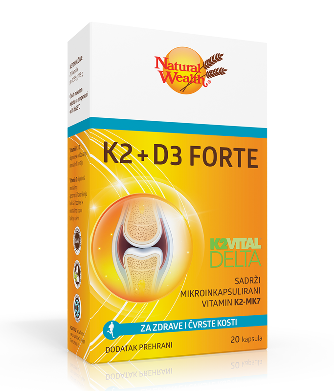 Picture of NATURAL WEALTH  K2D3 FORTE 20 KAPSULA