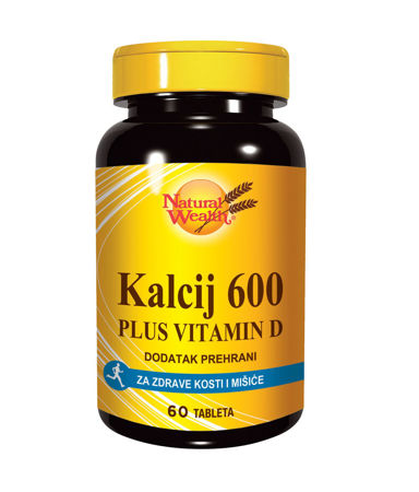 Picture of NATURAL WEALTH KALCIJ 600 + D VITAMIN