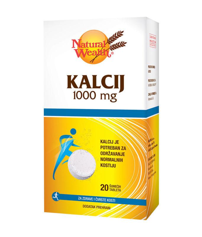 Picture of NATURAL WEALTH KALCIJ 1000MG ŠUMEĆE TABLETE