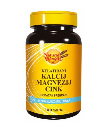 Picture of NATURAL WEALTH KALCIJ MAGNEZIJ CINK TABLETE 100 KOMADA