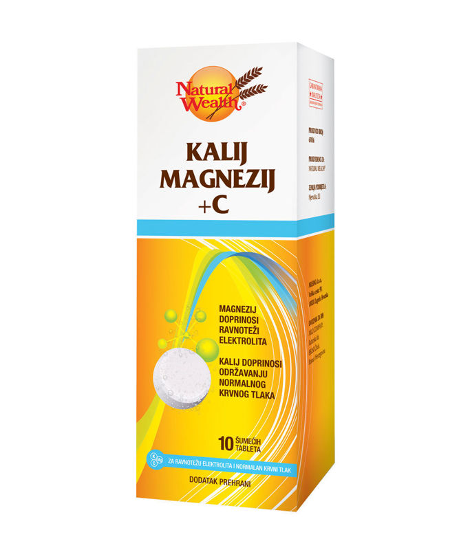 Picture of NATURAL WEALTH KALIJ MAGNEZIJ+C  ŠUMEĆE TABLETE