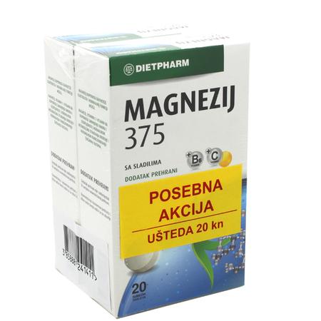 Picture of MAGNEZIJ 375 ŠUMEĆE TABLETE DUO PACK