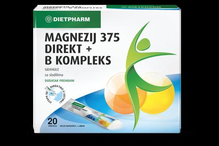 Picture of MAGNEZIJ 375 DIREKT + B KOMPLEKS  GRANULE 20 KOMADA