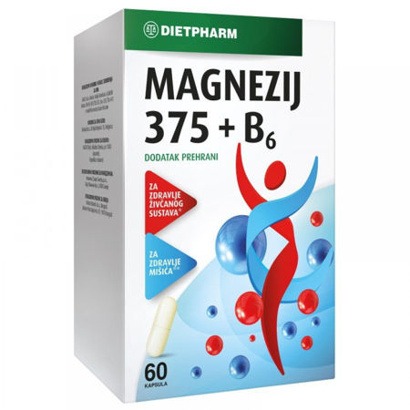 Picture of MAGNEZIJ 375+ B6 60 KAPSULA