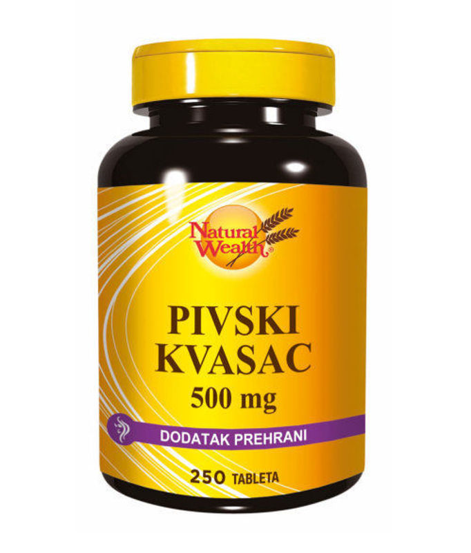 Picture of NATURAL WEALTH PIVSKI KVASAC  TBL 250X500MG