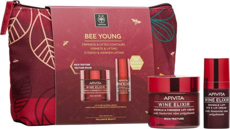 Picture of APIVITA BEE YOUNG SET WINE ELIXIR BOGATA KREMA