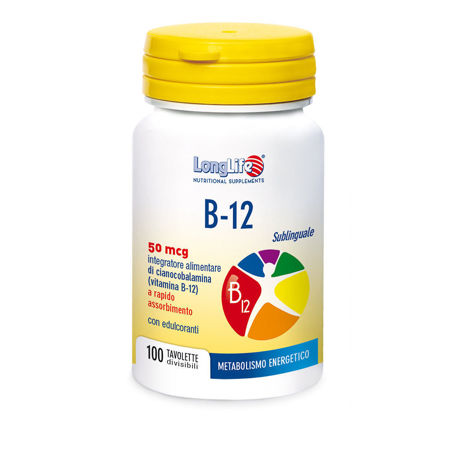 Picture of LongLife B12 SUBLINGVALNE TABLETE 100X50 MCG
