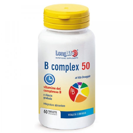 Picture of LongLife B-COMPLEX 50 T/R 60 TABLETA