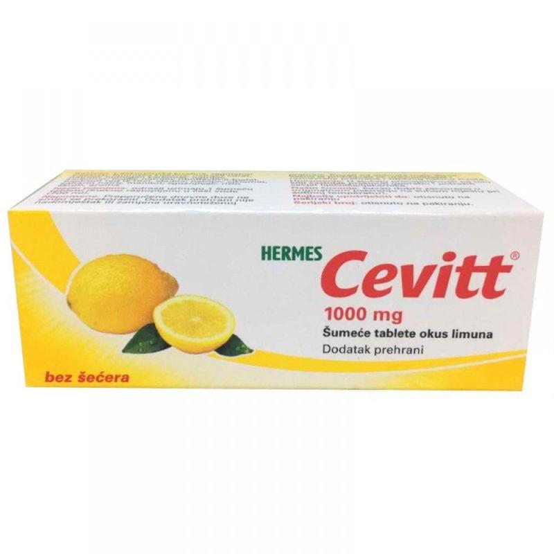 Picture of CEVITT 1000 MG ŠUMEĆE TABLETE 10KOM OKUS LIMUN