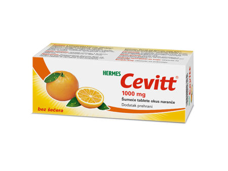 Picture of CEVITT 1000 MG ŠUMEĆE TABLETE 10KOM OKUS NARANČA