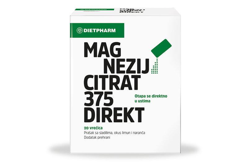Picture of MAGNEZIJ CITRAT 375 DIREKT PRAŠAK 20 VREĆICA