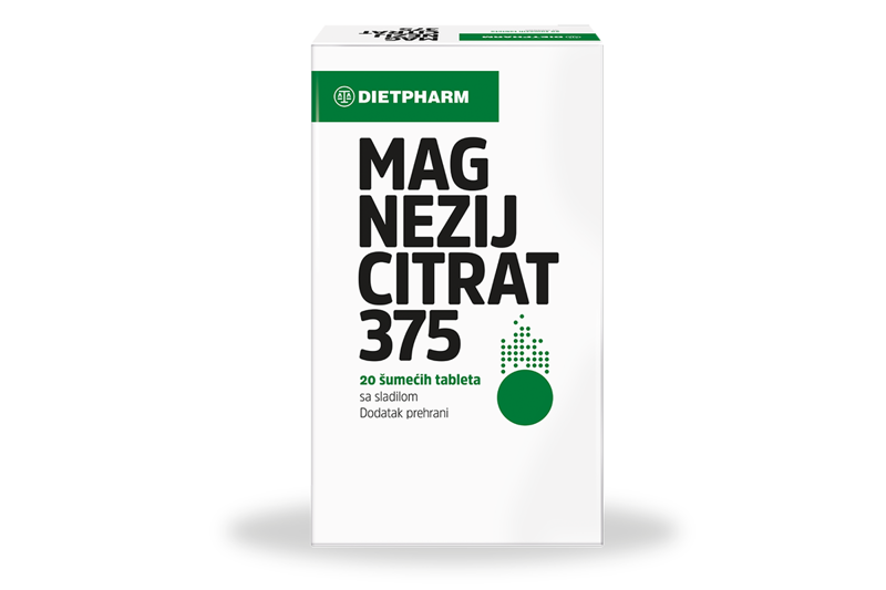 Picture of MAGNEZIJ CITRAT 375 MG 20 ŠUMEĆIH TABLETA