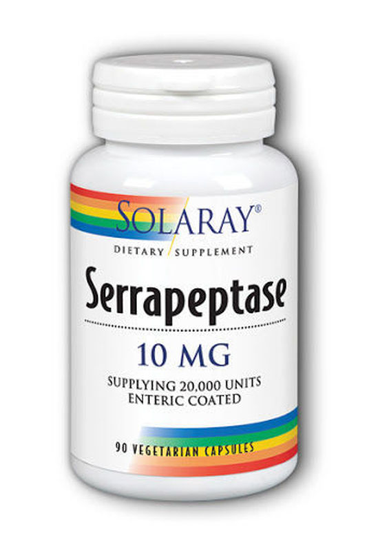 Picture of SOLARAY SERRAPEPTASE 90 CAPS