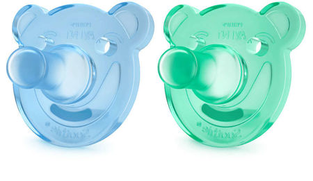 Picture of AVENT VARALICA SOOTHIE SHAPES, 0-3M, PLAVA I ZELENA, 2 KOM