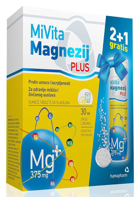 Picture of HAMAPHARM MIVITA MAGNEZIJ PLUS šumeće tablete 20X375 mg