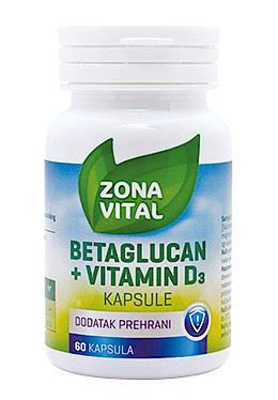 Picture of ZONA VITAL BETA GLUKAN + D3 60 komada