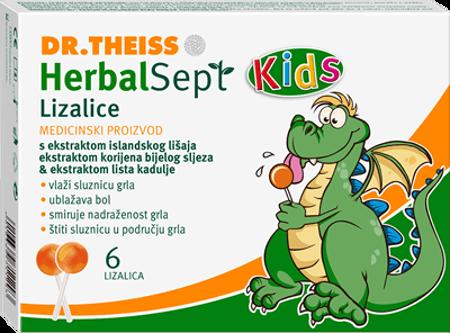 Picture of HERBALSEPT KIDS LIZALICE ZA GRLO