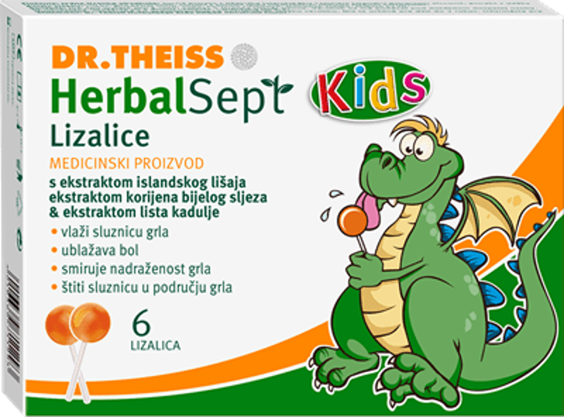 Picture of HERBALSEPT KIDS LIZALICE ZA GRLO