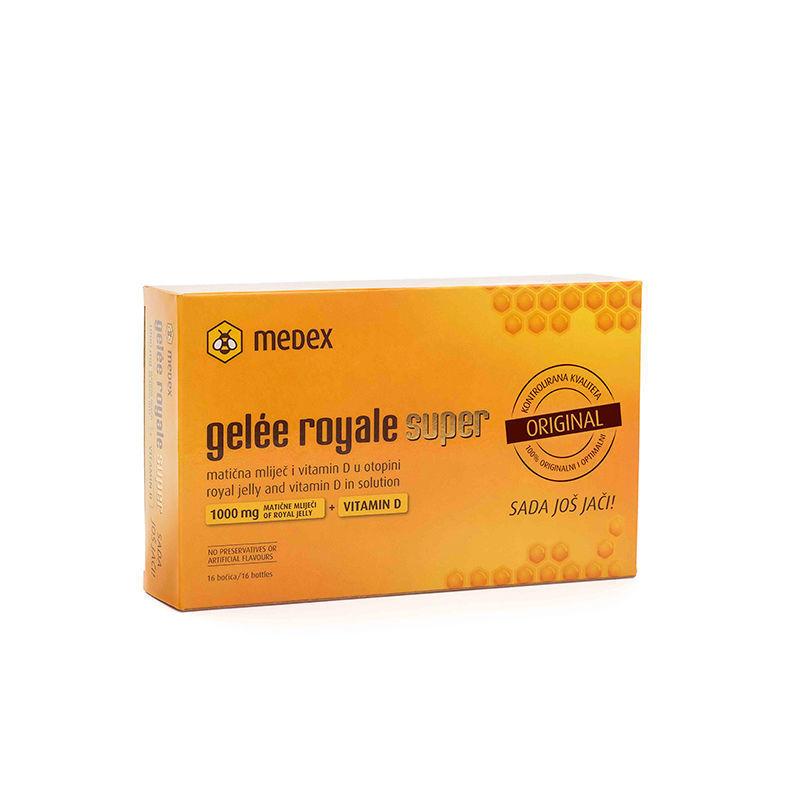 Picture of MEDEX GELLE  ROYALE SUPER AMPULE + VITAMIN D 16x9ml