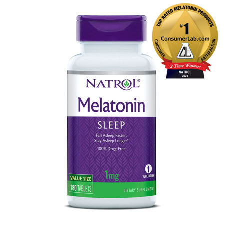 Picture of NATROL MELATONIN 1 MG 180 TBL